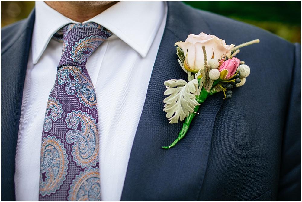 Wedding button hole pink