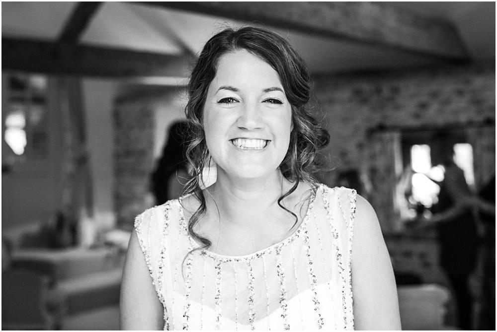 Radiant grinning bride