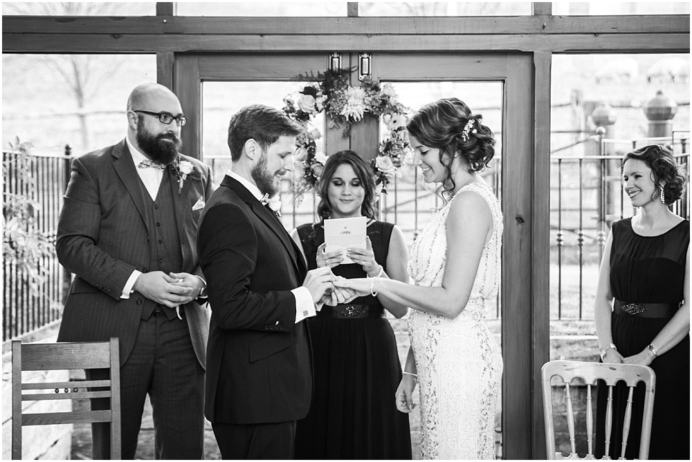 Sister does handfasting ceremony at wedding