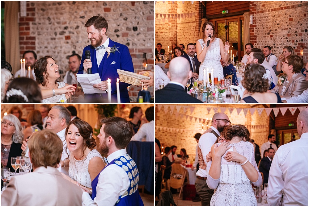 Wedding speech photographs