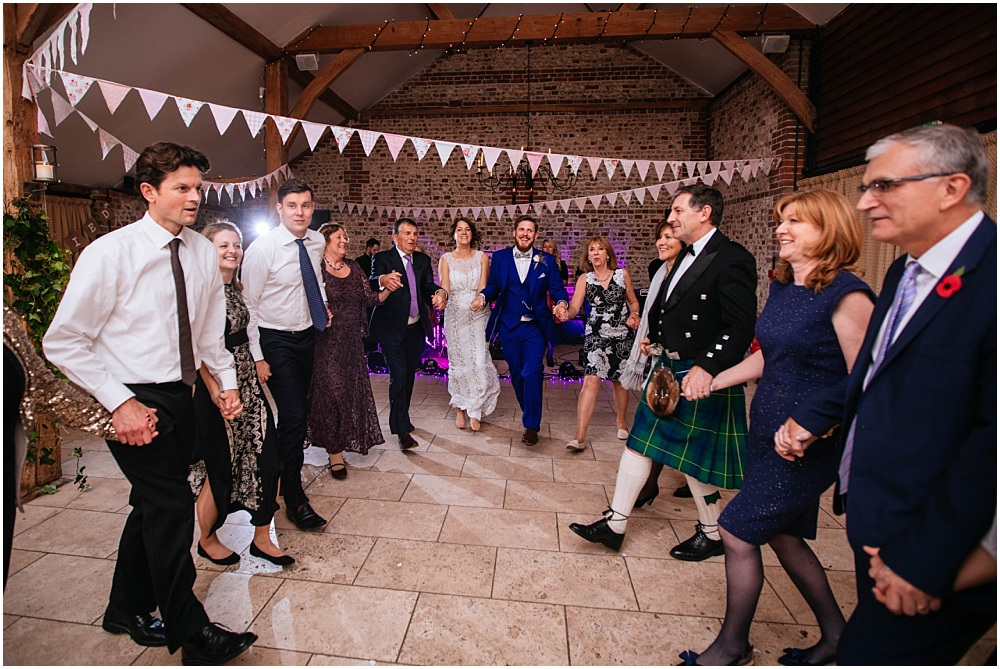Ceilidh at upwaltham barns wedding