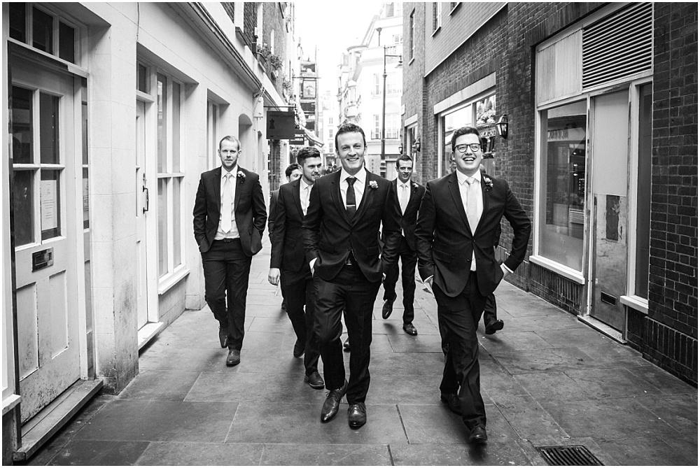 The boys walking to Savile Club