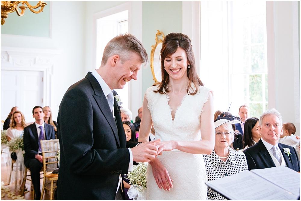Laughing during Botley mansion wedding