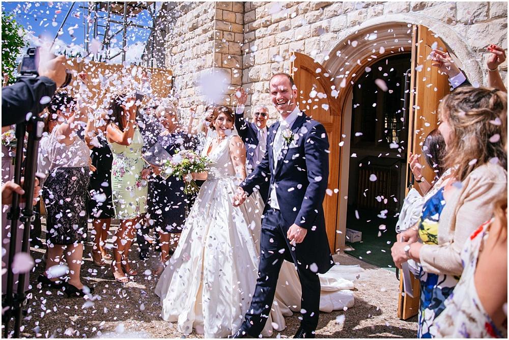So much confetti at london wedding