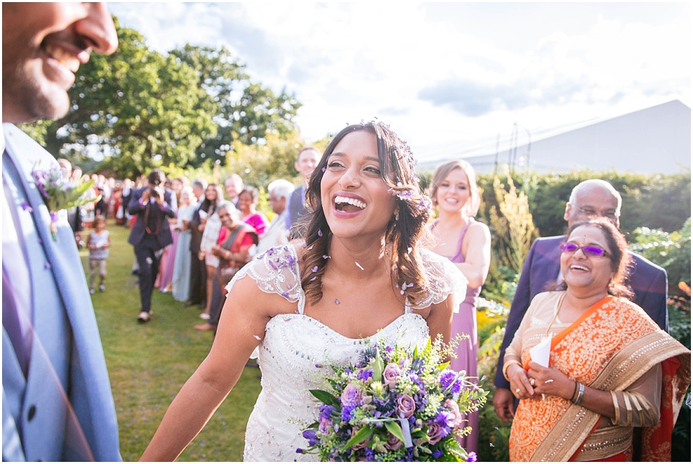 Beautiful radiant bride at micklefield hall