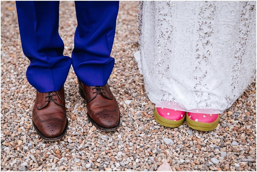 wedding wellies at upwaltham barn