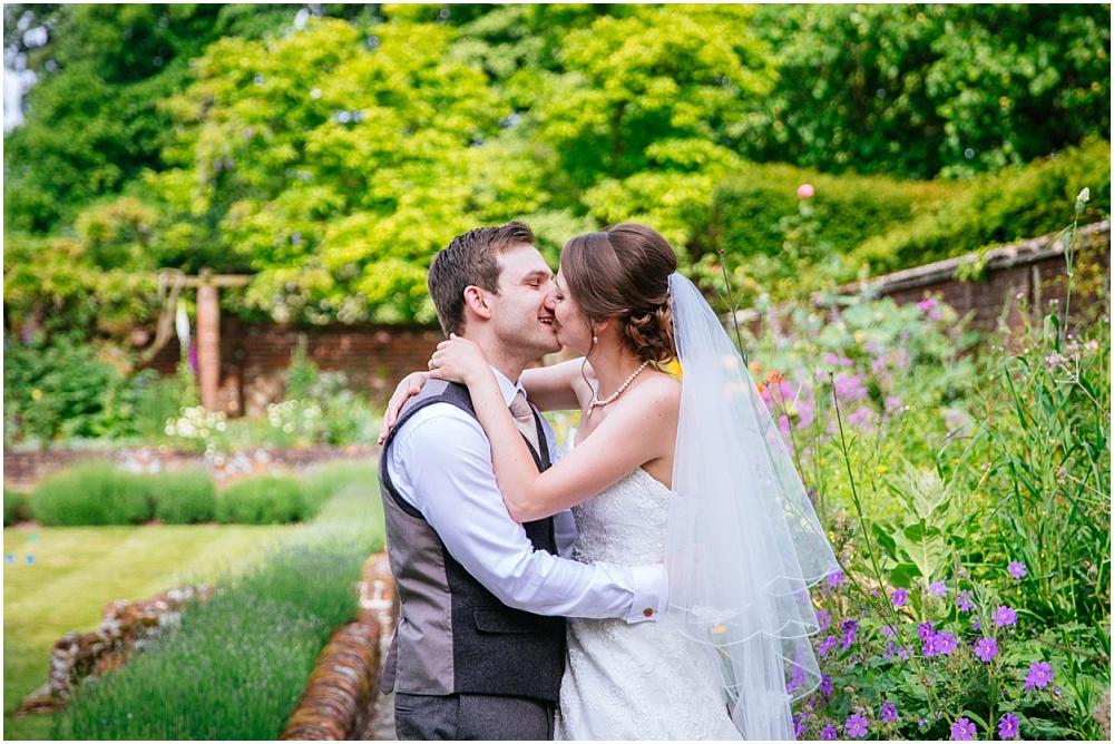 Kisses at wedding