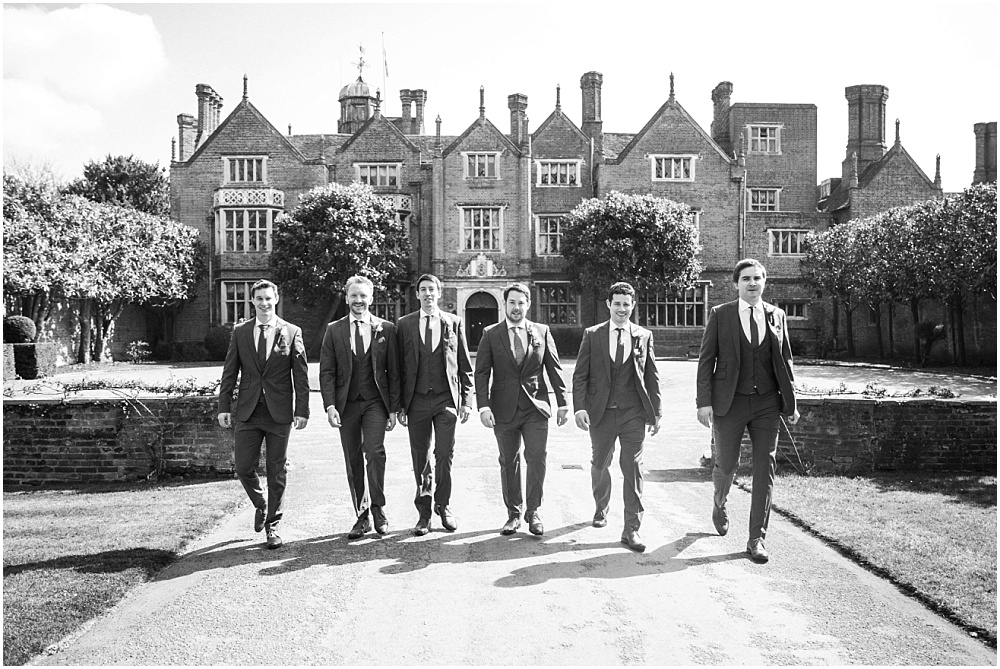 The boys outside Great Fosters before wedding