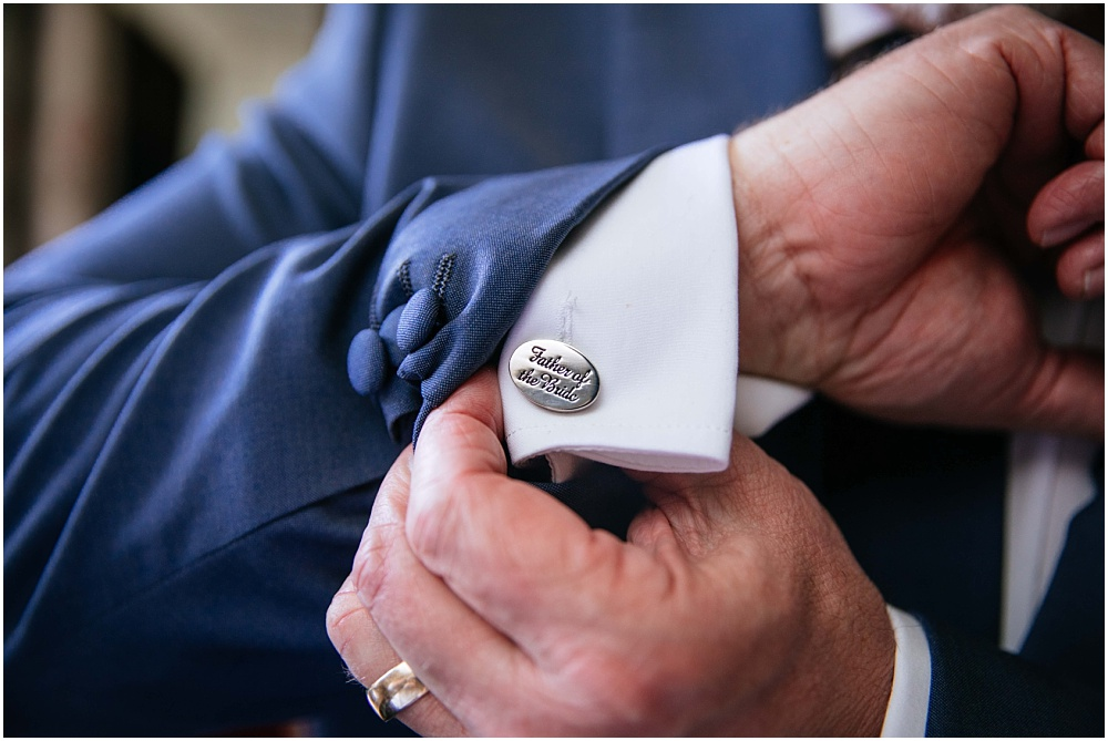 Father of groom cufflinks