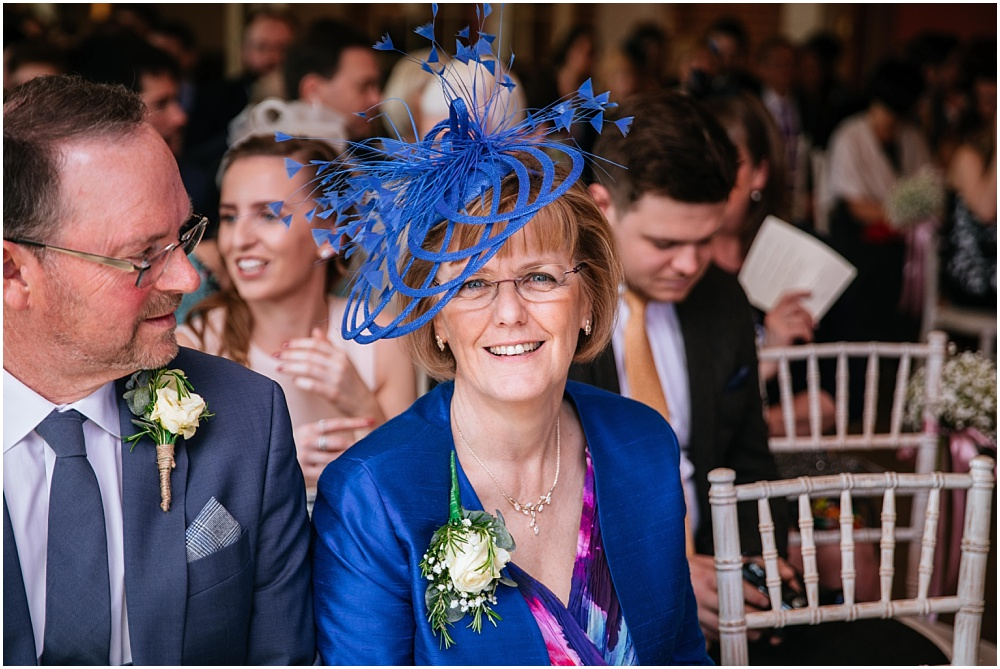 Mother of the groom in blue