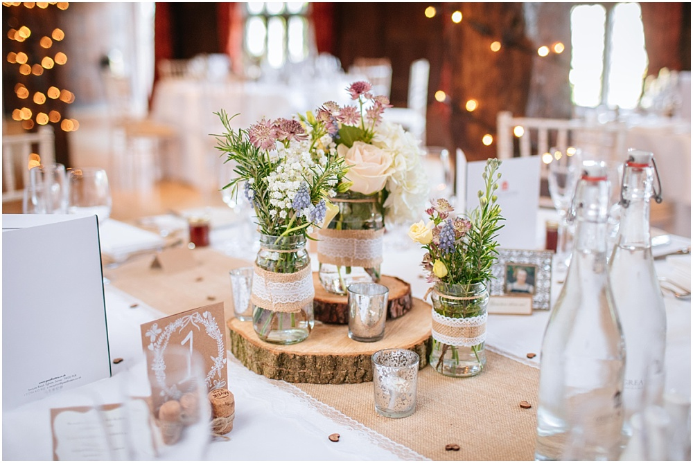 Jam jar centrepieces