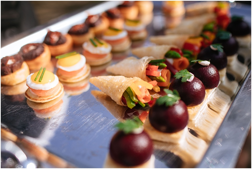 Canapes in sunshine