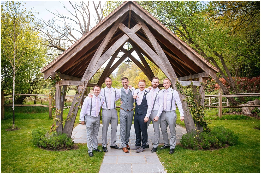 Grooms and ushers tweed suits no jackets