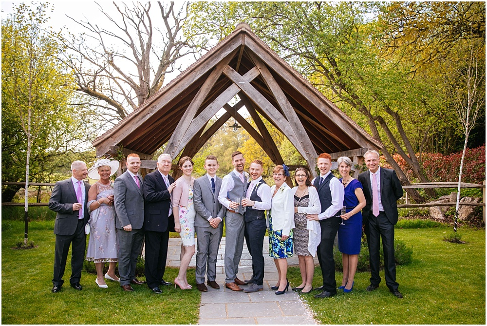 Relaxed family group shots at wedding