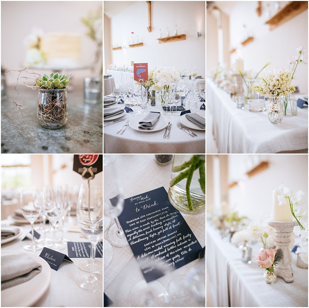 Millbridge court wedding breakfast details