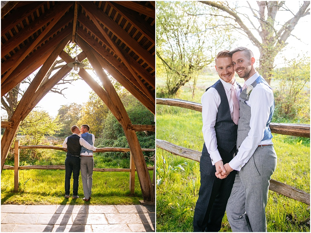 Millbridge court arbor groom and groom photographs in golden hour
