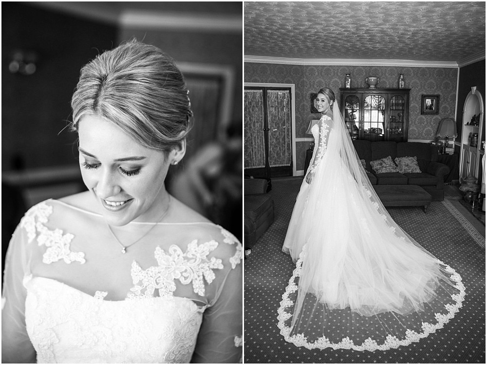 Real bride in stunning pronovias gown