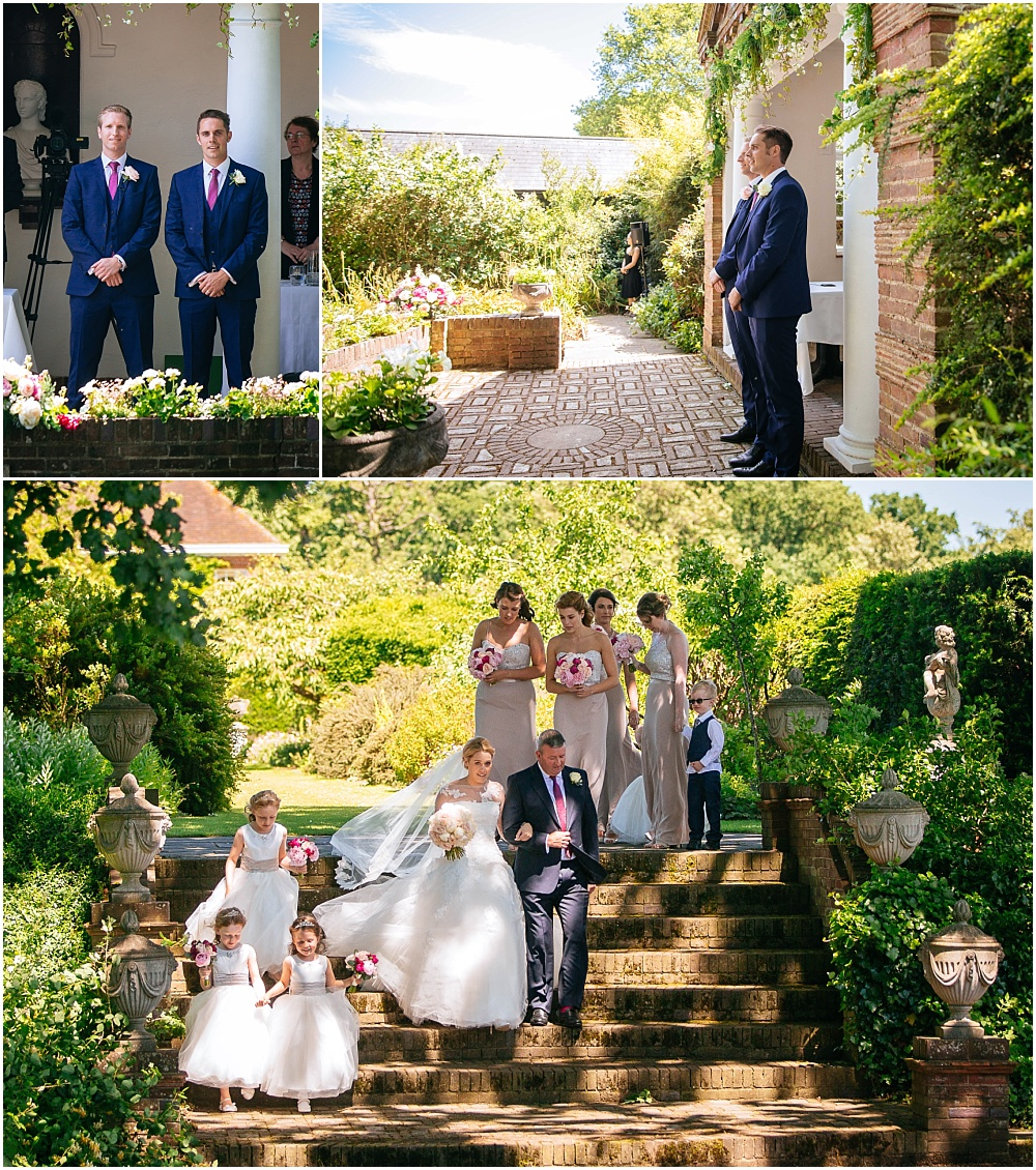 Walking down the aisle at micklefield hall