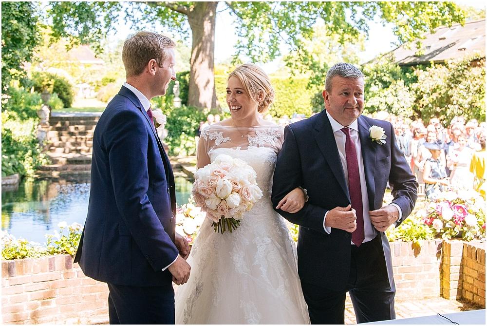 Bride sees groom