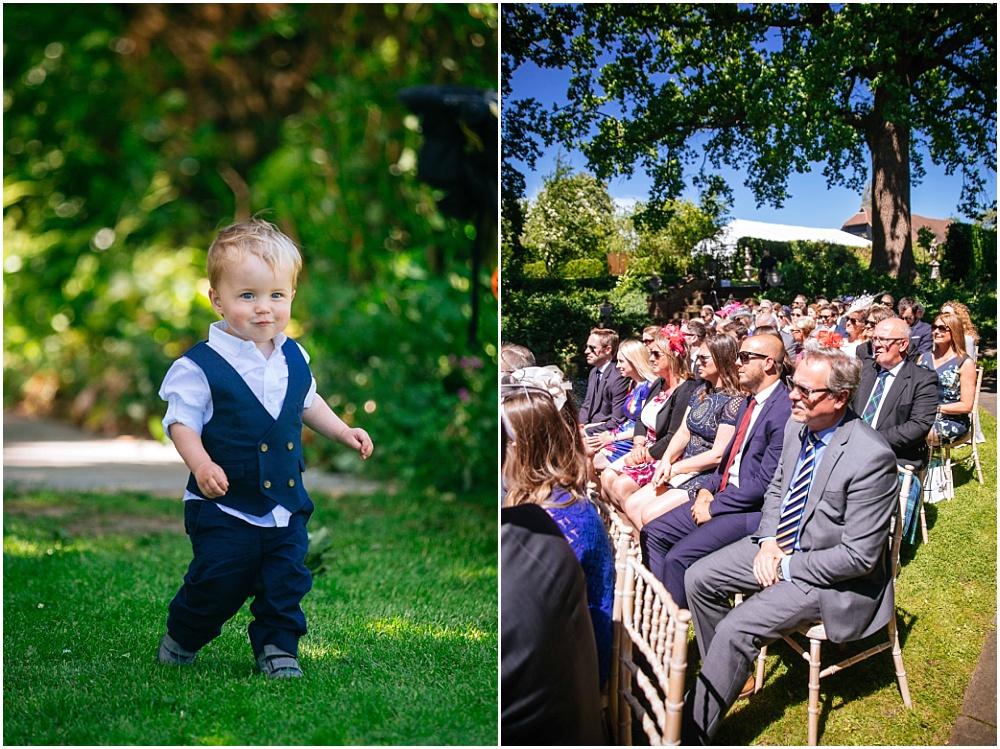 Cute toddler at wedding