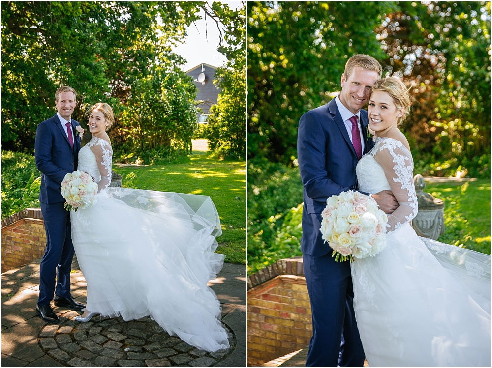 Beautiful bride in pronovias gown