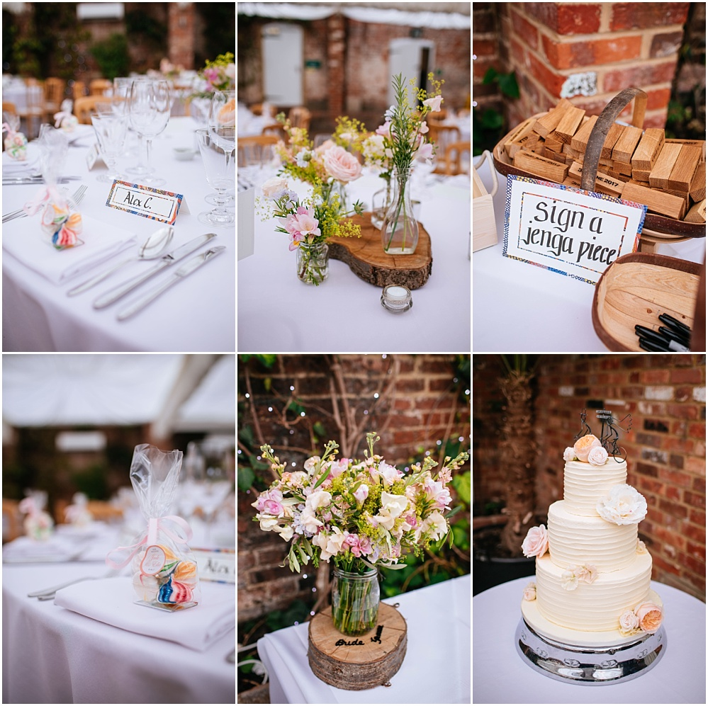 Wedding details for surrey wedding