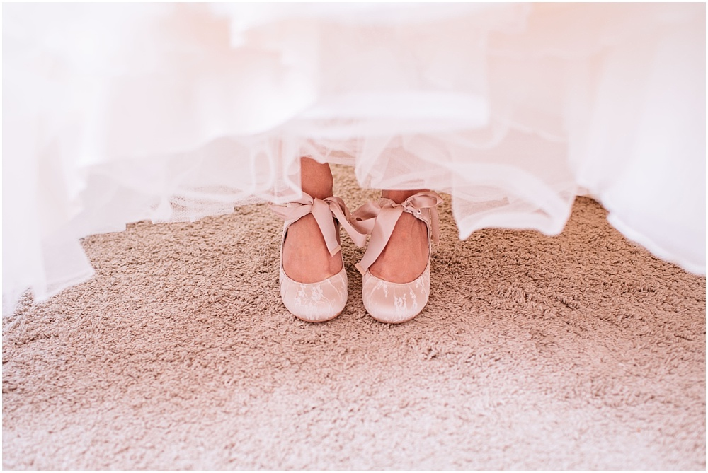 ribbon tie wedding shoes