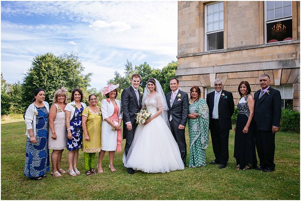 Group wedding photo at botleys mansion