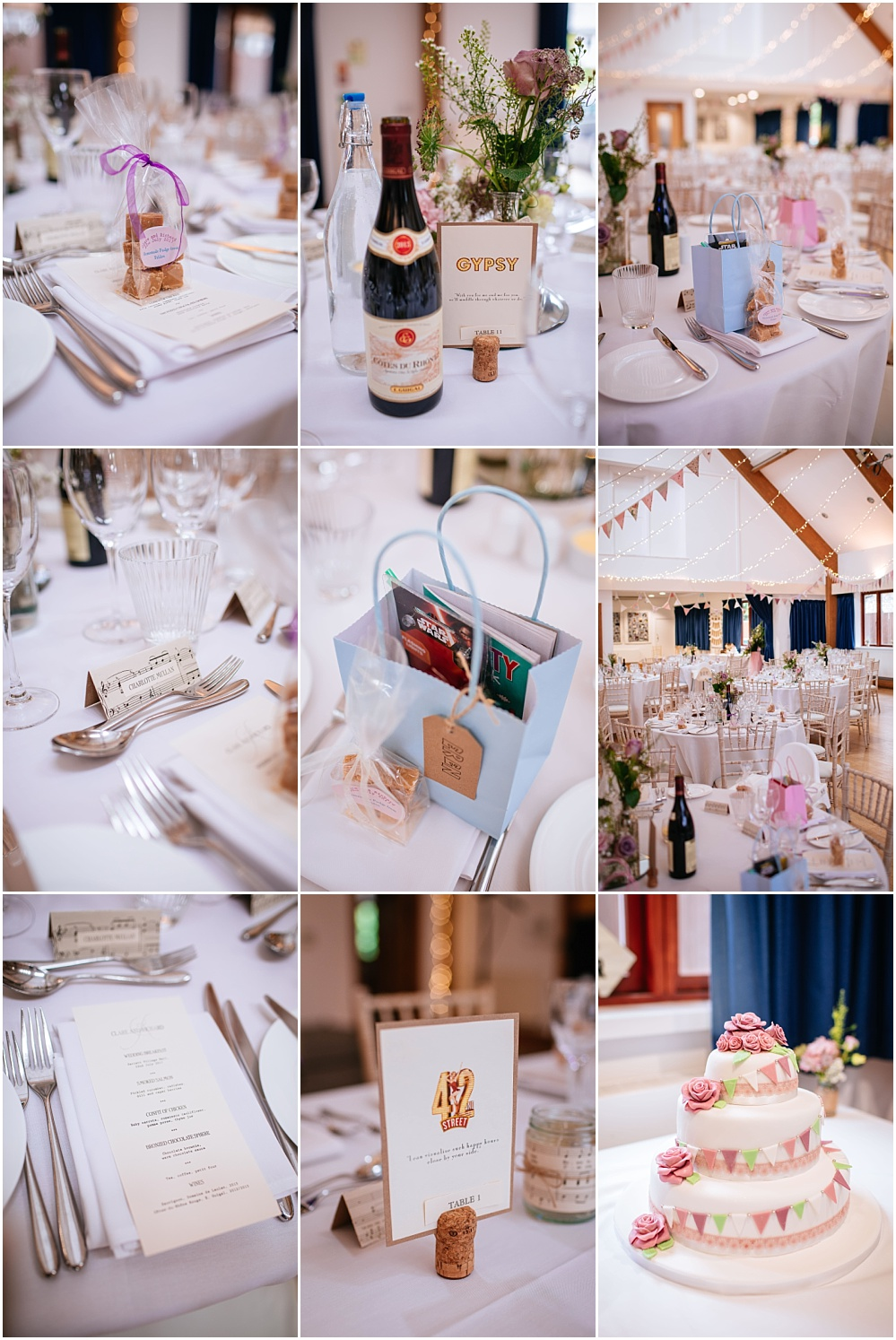 village hall wedding details