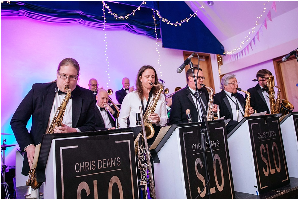 Big band at wedding