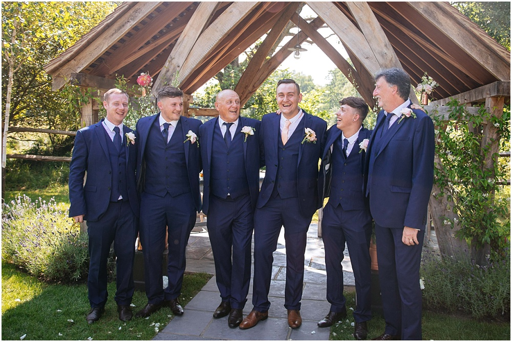 Relaxed group photographs at wedding