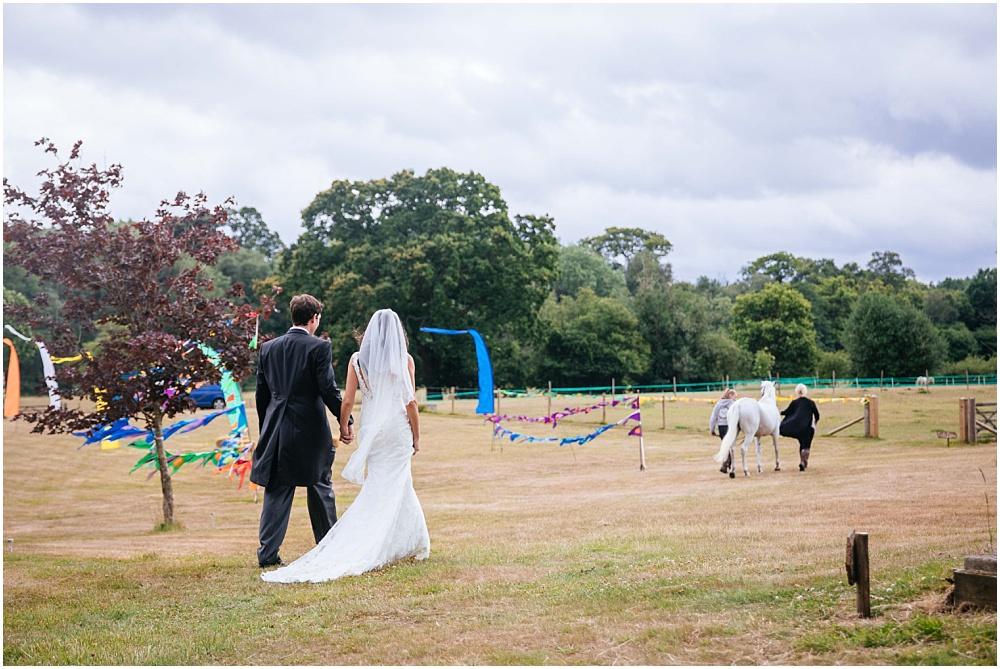 Festival garden farm wedding in surrey