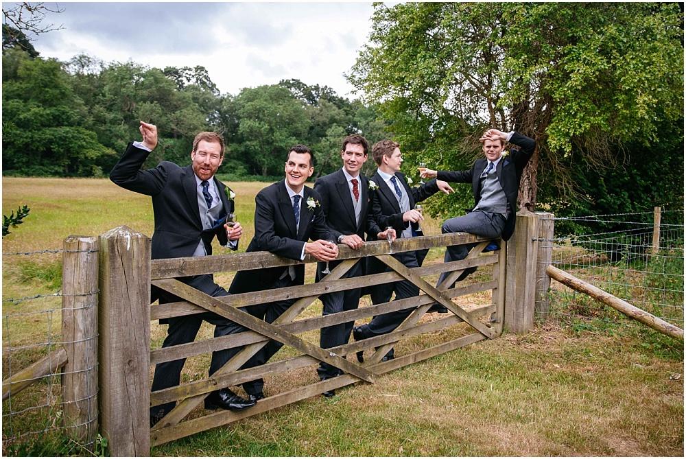 Ushers on fence