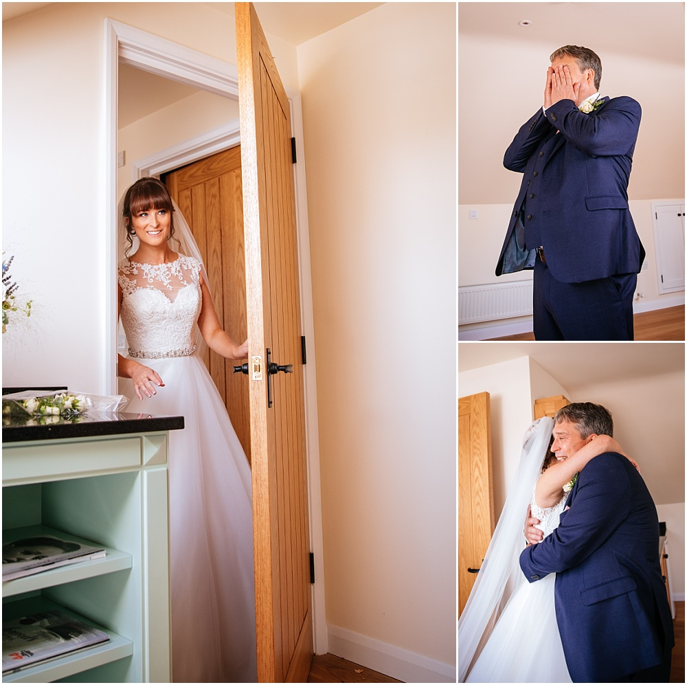 Father seeing bride for the first time