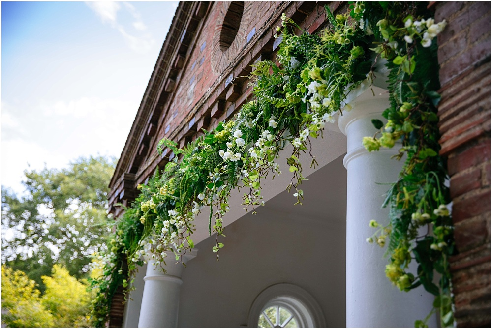 Beautiful floral arch at micklefield hall