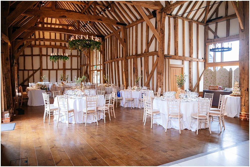 Micklefield hall set up for wedding breakfast