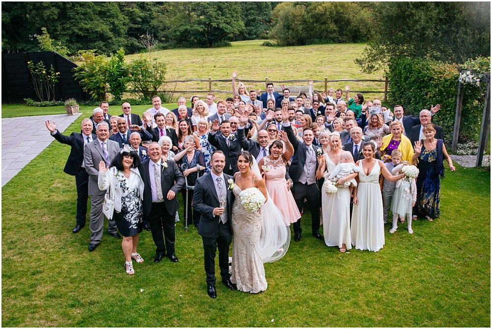 Photograph of everyone at the wedding
