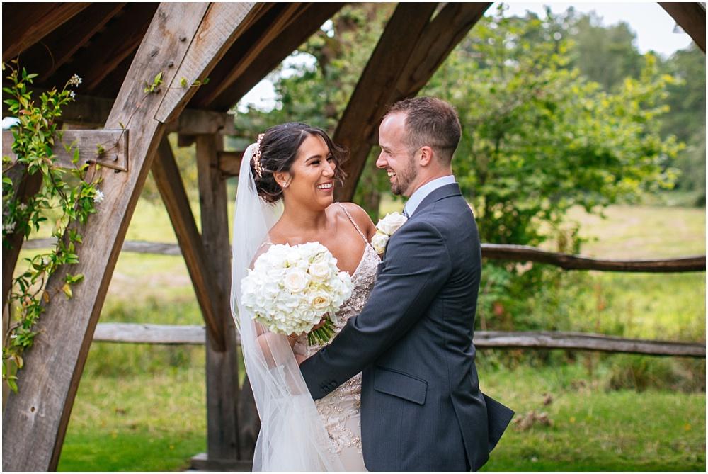 The happy couple at surrey wedding