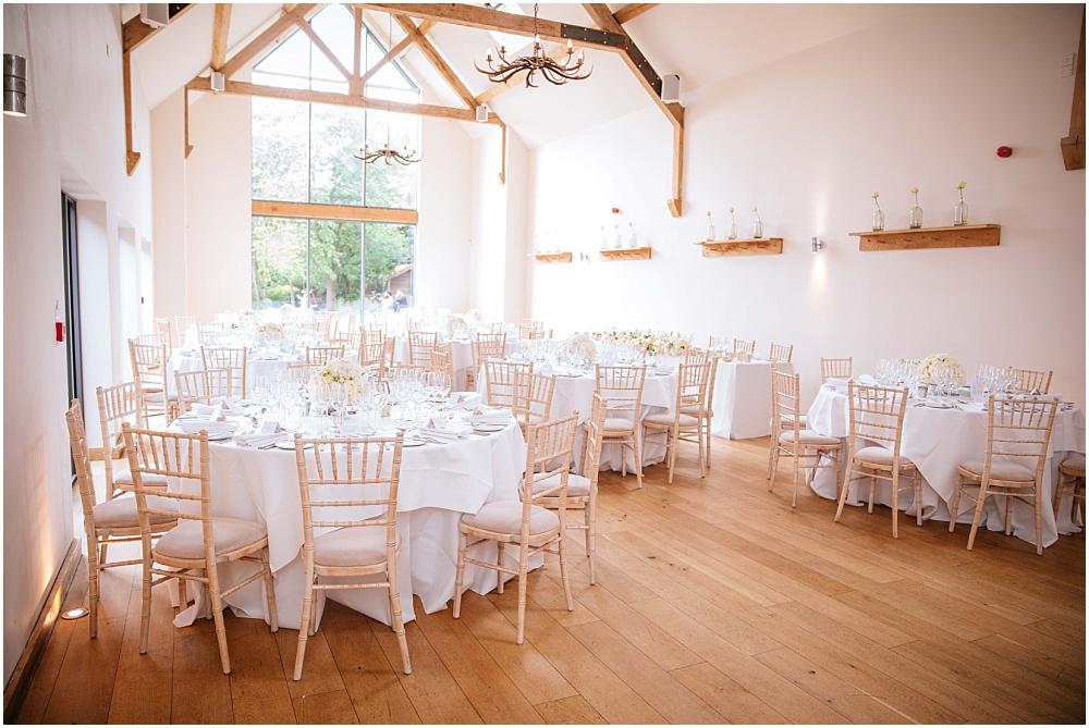 Millbridge court set up for wedding breakfast