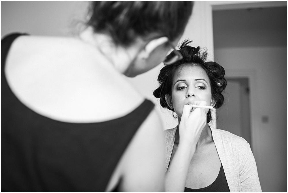 Bridal make up application in barnes