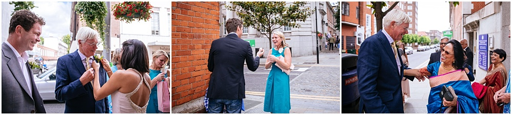Laughter outside the registry office