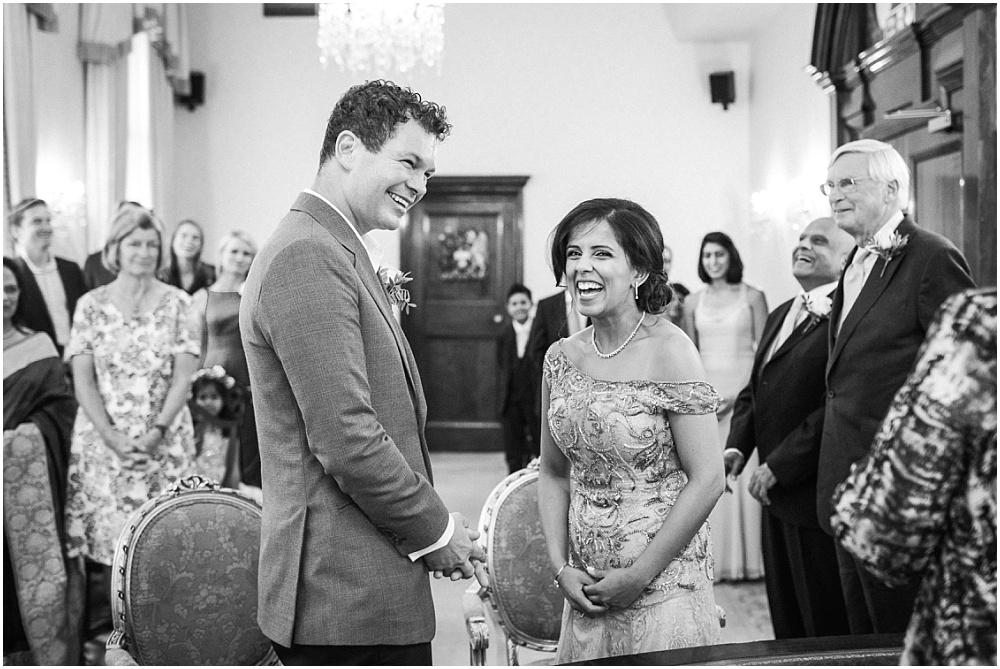 Intimate registry office wedding