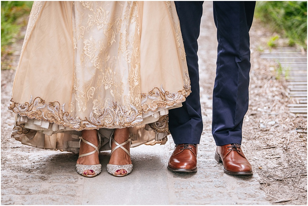 Brides shoes and grooms shoes