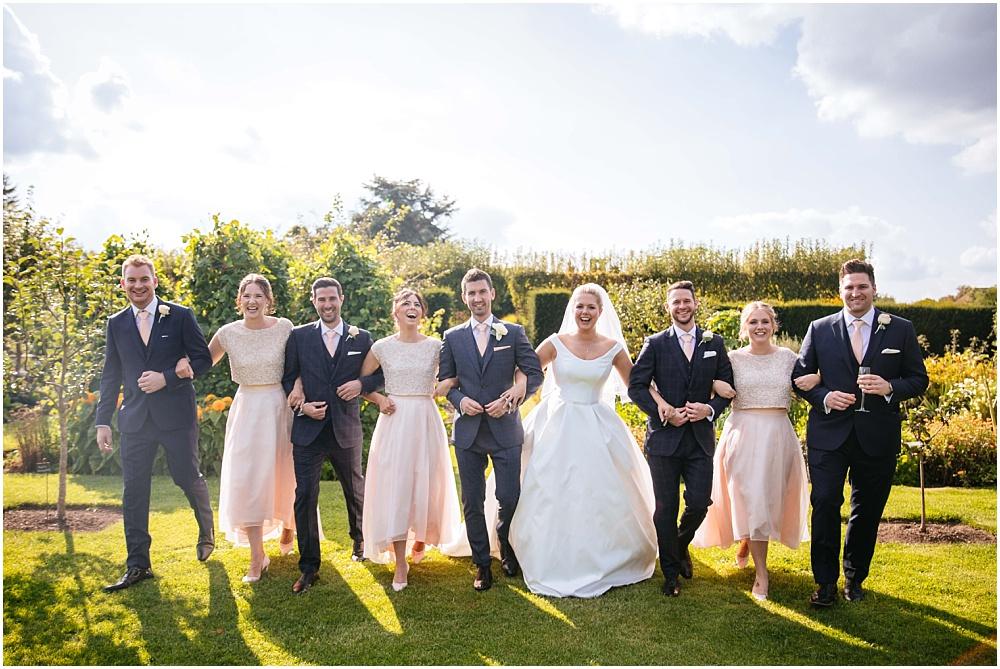 Fun wedding party photographs