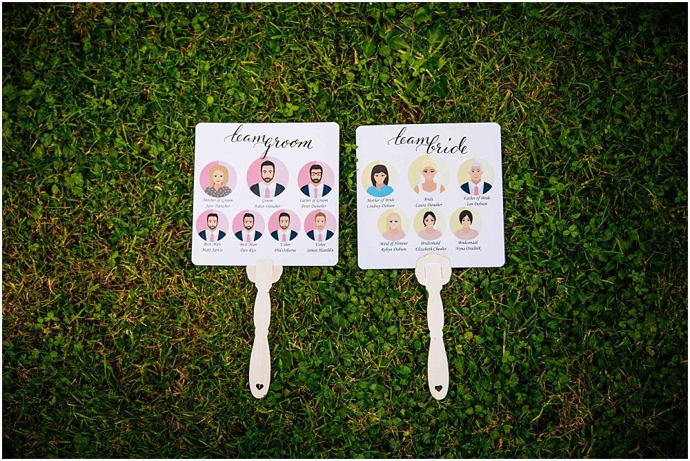 custom bridal fans