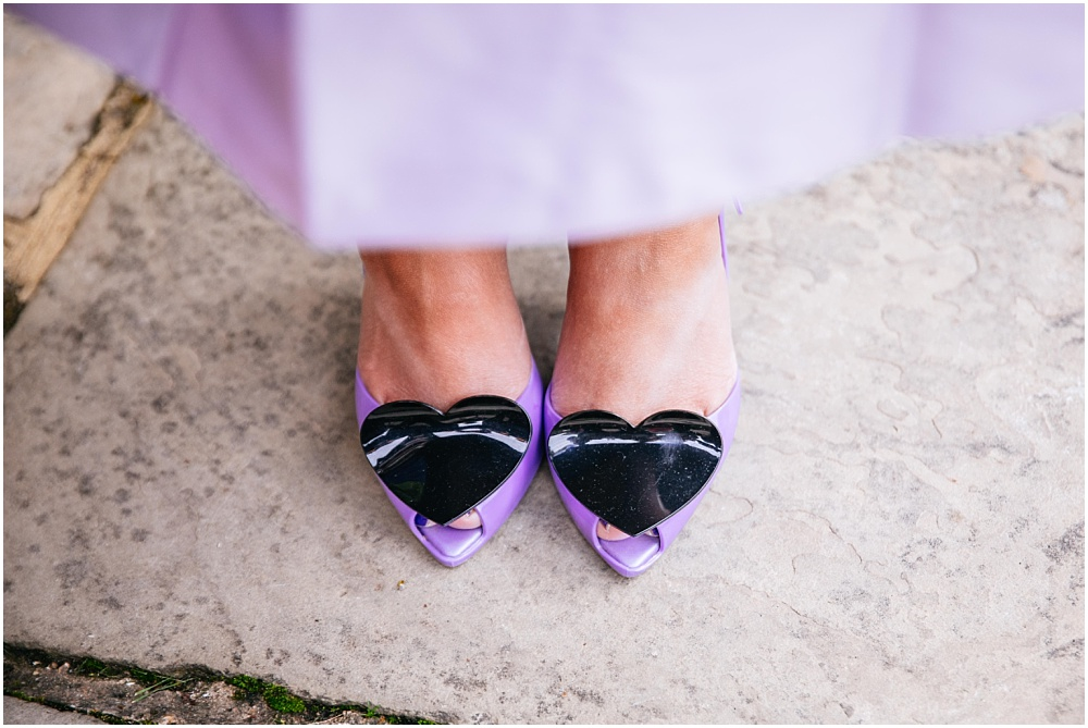 purple shoes with hearts