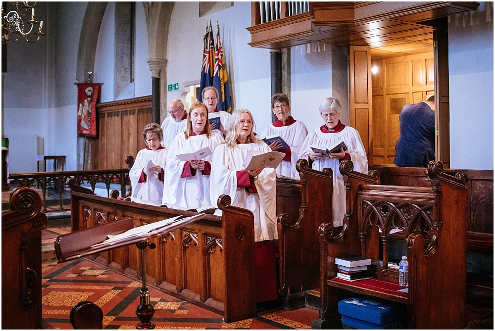 Choir singing at st james church
