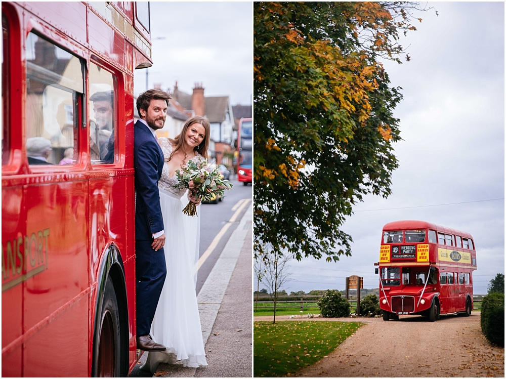 Vintage bus for hertfordshire wedding
