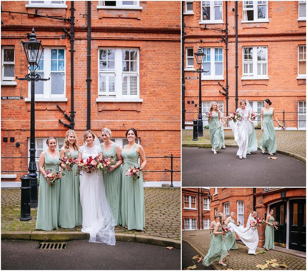 Bridesmaids before london wedding