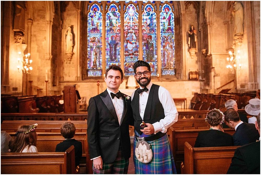 Groom and best man pre St Etheldredas wedding